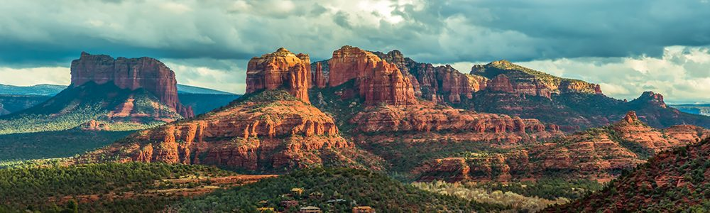 Mountain panorama in Sedona, Arizona