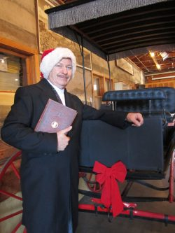"Michael Peach channels the ghosts of Christmases Past, Present & Future in his reading of ""A Christmas Carol"" at the Sedona Heritage Museum"